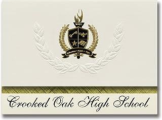 Signature Announcements Crooked Oak High School (Oklahoma City, OK) Graduation Announcements, Presidential style, Elite pa...