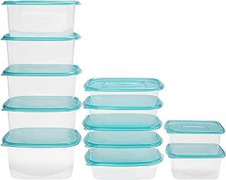 BELLE VOUS Boite Conservation Alimentaire Plastique Réutilisables avec Couvercle (Lot de 12 en 3 Tailles) - Boîtes Herméti...