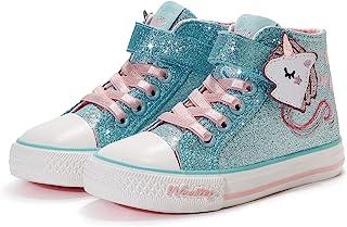 Girls Toddler/Little Kid Glitter Unicorn Bow Sneaker Shoe