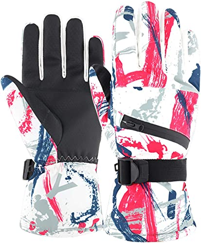 popular OPTIMISTIC Ski Gloves for Boys high quality Warm Fleece Winter Snow Skiing Windproof Gloves with popular Long Cuff for Outdoor Cycling Snowboarding Skiing,Waterproof & Windproof, ScreenTouch Design online sale