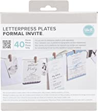 We R Memory Keepers LLPP-3752 Lifestyle Letterpress Plates, Formal Invite