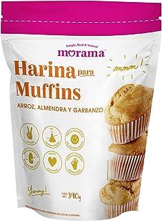 Morama, Harina para Muffins hecha con harina de arroz, almendra y garbanzo, solo tienes que agregar huevo, leche y aceite,...