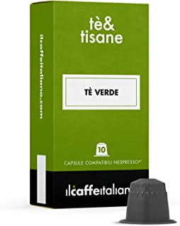 FRHOME - 50 Capsules compatibles Nespresso - Thé vert earl grey - Il caffè italiano