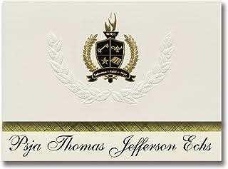 Signature Announcements Psja Thomas Jefferson Echs (Pharr, TX) Graduation Announcements, Presidential style, Elite package...