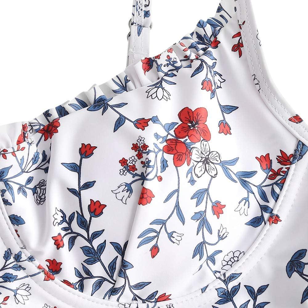 ZAFUL Womens Floral Spaghetti Straps V-Wire Bikini Set
