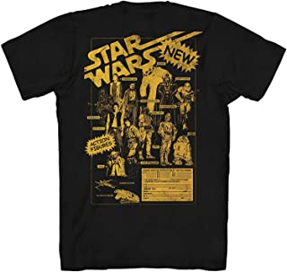 Star Wars Character Map Jedi Rise Skywalker Vintage Retro Classic Adult Men's Graphic Tee T-Shirt