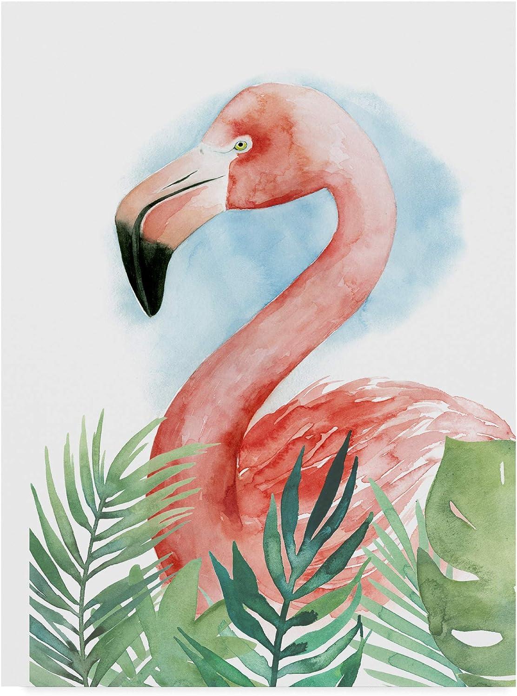 Trademark Fine Art Watercolor Flamingo Composition II by Grace Popp, 14x19