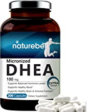 Maximum Strength DHEA 100mg, 200 Capsules, Supports Energy Level, Metabolism, Stamina for..