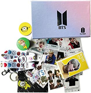 BTS Jimin Fans Gift Set for Army Daughter Bangtan Boys Box Include Stickers, Lomo Cards, Lanyard and Keychain