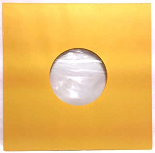 100 Pack - 78rpm Record Sleeves Golden Brown Polylined Paper Acid-Free 78 RPM Phonograph Vinyl Record Album Inner Yellow Gold 10-inch (10in.) Victrola 78s Collector-Style Inners