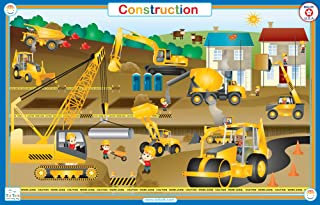 Tot Talk Construction Educational Placemat for Kids