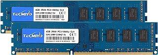 TECMIYO 8GB Kit (2 X 4GB) PC3-10600U DDR3 1300MHZ DIMM DDR3-1333 UDIMM 2RX8 Dual Rank CL9 1.5V 240 Pin Unbuffered Non-ECC Udimm Desktop Memory RAM for Intel AMD System
