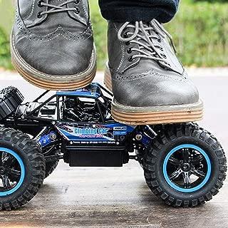Ycco 1:14 RC 4WD高速水陸両用防水オフロード電気ラジオリモートカー45km / h 2.4GHzダブルモーターレーシングモンスタークローラー360°スタントドリフトクライムビークルボーイ誕生日おもちゃキッズギフト用 (Color : 青)