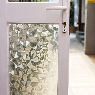 fancy-fix 3D001-90-200 Window Film Non-Adhesive Cut Glass Decorative Static Anti-UV Window Clings, 35.4