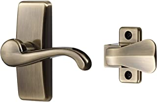 Ideal Security SKGLWAB Storm Door Lever Handle Set, Antique Brass