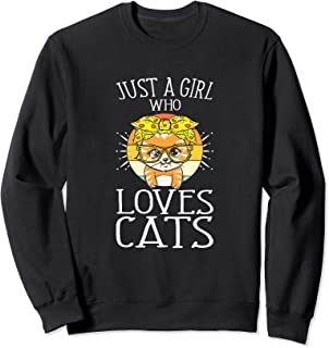 Juste Une Fille Qui Aime Les Chats Chaton Amoureux Des Chats Sweatshirt