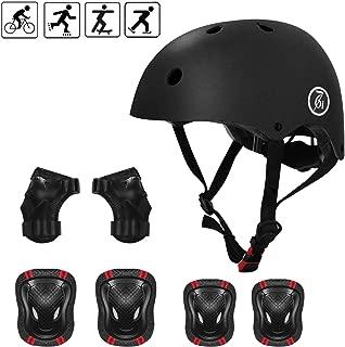 67i Kids Bike Helmet for 3-8 Years Toddler Helmet Sports Protective Gear Set Knee Pads for Kids Adjustable Helmet CPSC Certified Kids Knee Pads 7Pcs Kids Pads for Skateboarding Bike Cycling Scooter