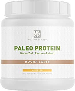 Mocha Latte Pure Paleo Protein by Dr Amy Myers – Clean Grass Fed, Pasture Raised Hormone Free Protein, Non-GMO, Gluten & Dairy Free – 21g Protein Per Serving – Mocha Shake for Paleo and Keto