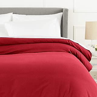 Pinzon Flannel Duvet Cover - Full or Queen, Merlot Red