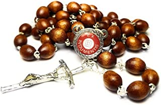 Relic Rosary 3rd Class Saint Nicholas Nikolaos Myra Nicholas Bari Patron of Children, Coopers, Sailors, Fishermen, Merchants, Broadcasters, The falsely Accused, Brewers, Pharmacists Nicolas (Brown)