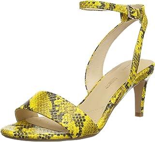 Clarks Amali Jewel, Scarpe con Cinturino alla Caviglia Donna, Giallo (Yellow Snake Yellow Snake), 35.5 EU