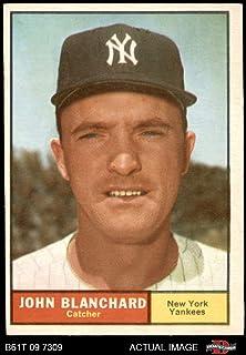 1961 Topps # 104 John Blanchard New York Yankees (Baseball Card) Dean`s Cards 5 - EX Yankees