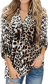 YOINS Camicia Donna Casuale Camicetta Donna Manica Lunga Bluse Camicie a Quadri Blusa Scollo V Elegante