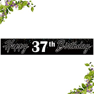 INNORU Happy 20th Birthday Large Banner - Happy 20th Anniversary Bunting - Cheers to 20 Years Birthday Party Outdoor Decor...
