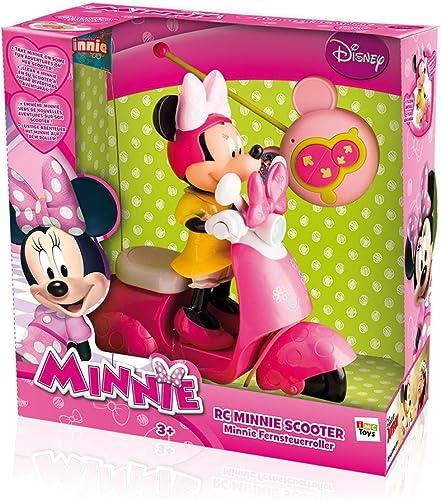 promociones Imc Toys - Moto Rc Scooter Minnie Pilas Pilas Pilas (Minnie Extraible) 43-180673  colores increíbles