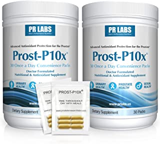 PR Labs - Prost-P10x - Prostate Supplement for Men - Urologist-Formulated Prostate and Urinary Health Support with Quercet...
