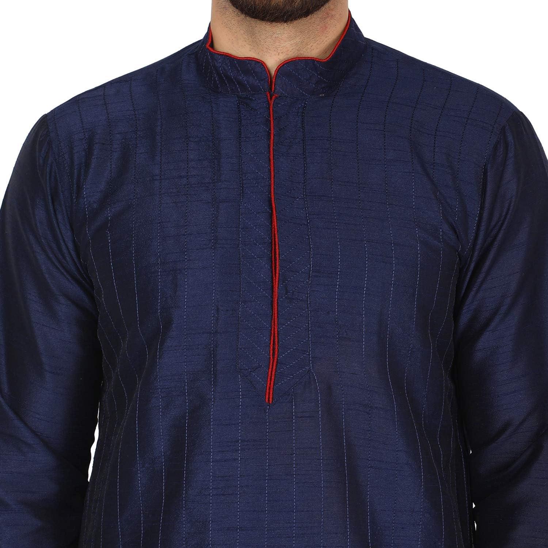 SKAVIJ Herren Tunika Kurta Pyjama Set indische Traditionelle Kleidung