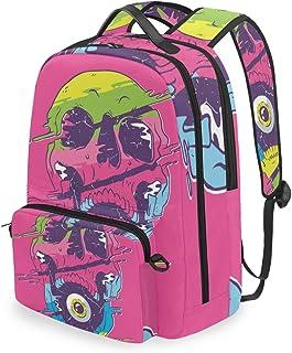 Mochila con Bolsa Cruzada Desmontable, diseño de Calavera, Mochila de computadora para Viajes, Senderismo, Acampada