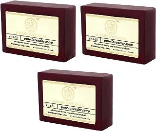 Khadi Natural Pure Lavender Soap, 125g (Pack of 3)