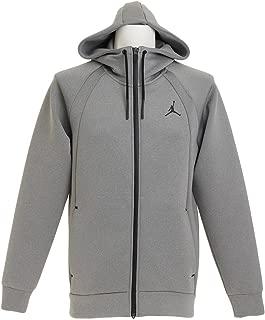 Mens Jordan Flight Tech Fleece Full-Zip Hoodie - Carbon Heather/Black