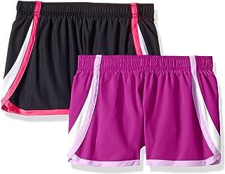Hanes Girls' Big Sport Woven Performance Running Short (Pack of 2)