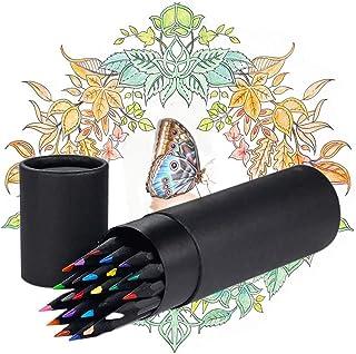 24 Pcs Lápices de Colores Colores Profesionales Arte Lapices de Dibujo Profesional Kit de Dibujo Lápices de Dibujo Juego P...