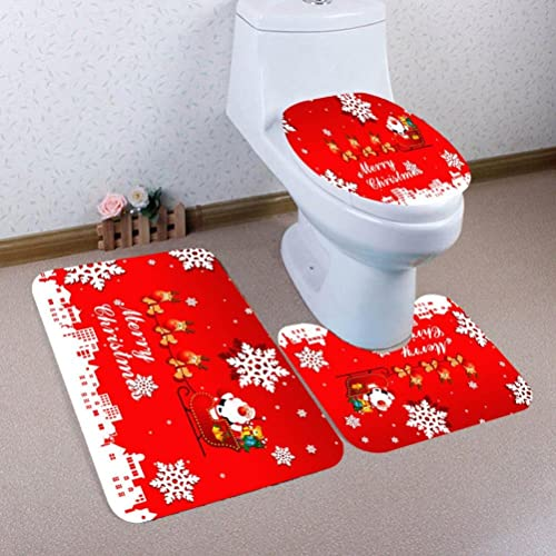 Admirable Llw Christmas White World Scene Dyeing Santa Claus Toilet Onthecornerstone Fun Painted Chair Ideas Images Onthecornerstoneorg