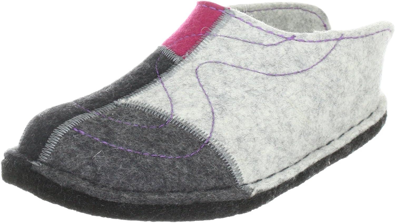 Haflinger Women slippers Flair Puzzle grey, (grey-kombi) 311031 0 284