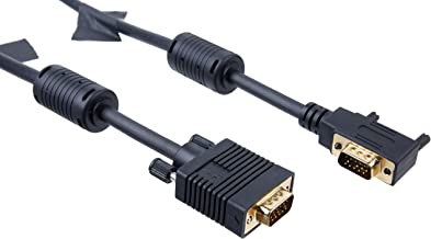 Tripp Lite VGA Coax Right Angle Monitor Cable High Resolution cable with RGB coax (HD15 M/M) 3-ft.(P502-003-RA)