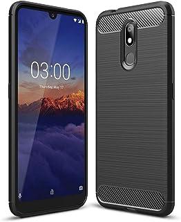 جراب FanTings لهاتف Nokia 3.2، مضاد للانزلاق، رفيع للغاية لامتصاص الصدمات ومضاد للخدش، غطاء لهاتف Nokia 3.2 - أسود