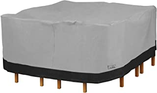 """North East Harbor Square Patio Table and Chair Set Outdoor Furniture Cover - 100"""" L x 100"""" W x 32"""" H - Breathable Materia..."""