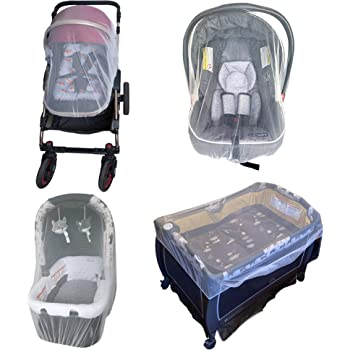 Enovoe Mosquito Net for Stroller - Durable Baby Stroller Mosquito Net - Perfect Bug Net for Strollers, Car Seats, Bassinets, Cradles, Playards, Pack N Plays and Portable Mini Crib