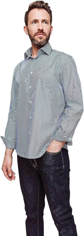 Arrow - Camisa regular con cuadros vichy azul marino
