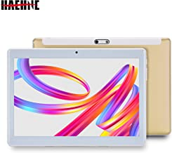 Haehne 10,1 Pulgadas Tablet, Google Android 4.4 gsm WCDMA 3G Phablet, HD 1280 * 800P Pantalla capacitiva, Quad Core 1.3GHz A7 1GB+16GB, Cámaras Duales 2.0MP+0.3MP, 4500mAh, WiFi, Oro