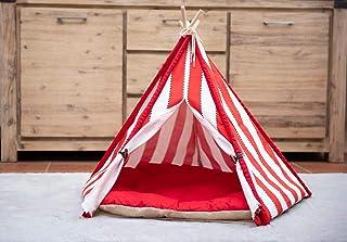 little dove, hund tipi-tält, hem och tält med spets för hund eller husdjur, avtagbar och tvättbar med madrass, Large