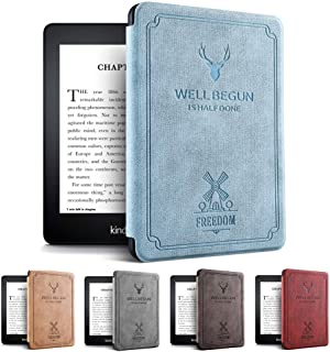 Amazon第10世代Kindle Paperwhite 4ケース 軽 薄 全面保護 電子書籍リーダー保護カバー オートスリープ機能 耐衝撃 KPW4 2018キンドルペーパーホワイト専用 (ブルー)