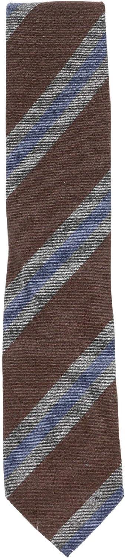 Bigi Cravatte-Milano Men's Diagonal Stripe Cashmere Necktie