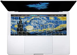 HERNGEE Starry Night by Van Gogh MacBook Keyboard Cover Compatible with 2016 New MacBook Pro 13