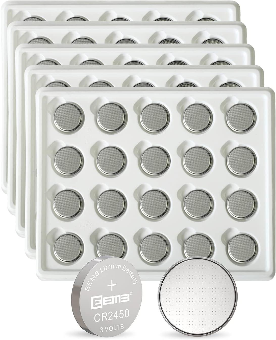 100PCS EEMB CR2450 Battery 3V Coin Cell 2450 Boston Mall Bat Lithium unisex