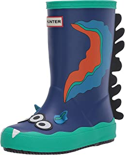 Hunter Kids First Sea Monster Sid Character Boots (Toddler/Little Kid) Cuttle Blue 9 Toddler